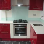 red gloss kitchen